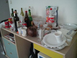 This is how the morning after a good party should look like